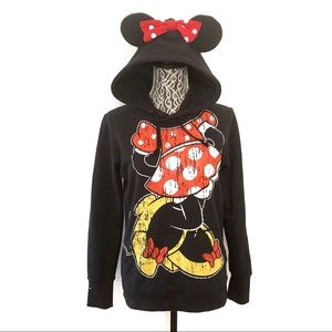 Disney Parks Minnie Mouse ears black hoodie small